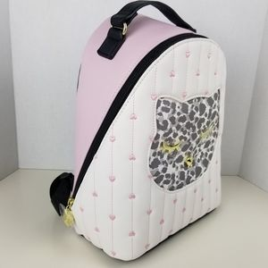 Betsey Johnson pink and white kitten backpack